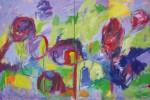 diptych acrylic/canvas, 200 x 300 cm