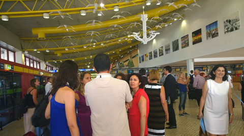 """faro int. airport with AAN: """"arte no ar/art in the air"""" –  4.7. -31.12. 2015"""