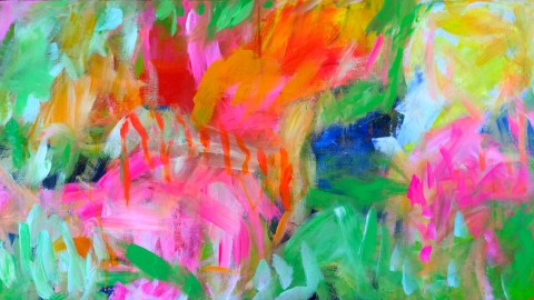 colour migrations no. 10/2016, acrylics/canvas, 70x140cm