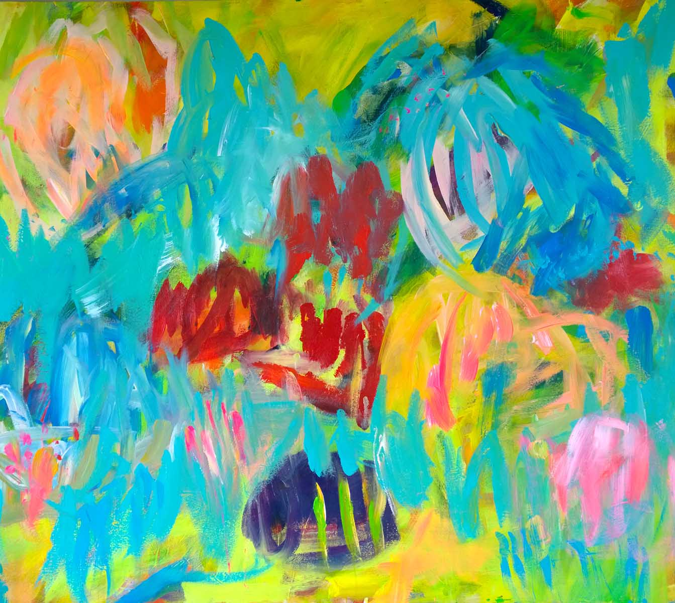 colour migrations no. 5/2016, acrylics/canvas, 100x120cm