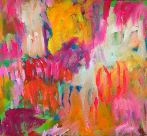 colour migrations no. 9/2016, acrylics/canvas, 90x100cm